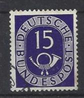 Germany (West) 1951  Posthorn  (o) Mi.129 - [7] Federal Republic