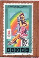 REP  POPULAIRE  DU  CONGO  --  PATINAGE  ARTISTIQUE  --  **  150 F. **  -- POSTE  1992  -- BEG - Oblitérés