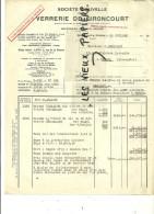 88 - Vosges - GIRONCOURT-SUR-VRAINE - Facture VERRERIE DE GIRONCOURT – 1949 - REF 3G - 1900 – 1949