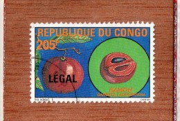 REP  DU  CONGO  -- LE  BAMOU  --  SURCHARGE  LEGAL   --  **  205 F. **  -- POSTE  1988  -- BEG - Used