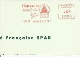 Lettre  EMA Havas Spar Anjou Bois Sapin Vegetaux  Themes 49 Angers  A 35/36 - Árboles