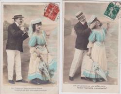 - Lot  De  5    CPA  - COUPLES  - Toutes Scanées - Cartes Postales