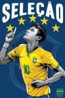 STICKER SIZE.6,5X9,5 CM. APROX - WORLD CUP FOOTBALL BRASIL 2014 - BRASIL - Otros