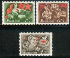 HUNGARY 1952 EVENTS May 1st INTERNATIONAL LABOUR DAY - Fine Set MNH - Hungary