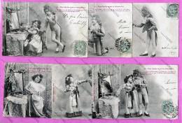 BERGERET - Serie Comlète De 6 - Une Idylle Sous Le Directoire - Couple D'enfants - 1903 - Voir Scan - Bergeret