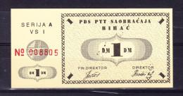 Banknote Of 1 DM BIHAC POCKET 1993 Uncirculated Lot 6 - Bosnie-Herzegovine