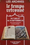 AFFICHE Exposition de Livres LES ARCHIVES Le Temps Retrouv� 1985 Marseille Carli