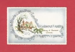 *  Mignonette :  Bonne Et Heureuse Année : Village Sous La Neige  :  Scan N°9   : Voir Les 2 Scans - Nouvel An