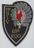 61° ESCADRON DE QUARTIER GENERAL De La 11° D.P. (sans Velcro) - Stoffabzeichen