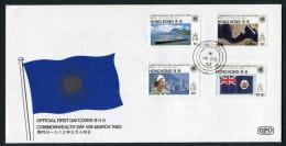 1983 Hong Kong China Commonwealth Day First Day Cover - Hong Kong (...-1997)