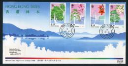 1988 Hong Kong China Trees Day First Day Cover - Hong Kong (...-1997)