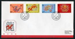 1988 Hong Kong China Year Of The Dragon Day First Day Cover - Hong Kong (...-1997)