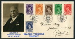 1947 Praha Prague PVV Autoposta Dr Benese Cover - Czechoslovakia