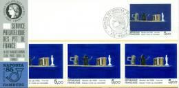 017 Carte Officielle Exposition Internationale Exhibition Hamburg 1985 France Tableau Kunst Art Nicolas De Stäel - Esposizioni Filateliche