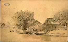 JUBILEUM REMBRANDT 1606 1906 PAYSAGE AVEC BARQUES - Paintings