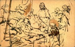 JUBILEUM REMBRANDT 1606 1906 JESUS VISITANT LES MALADES - Paintings