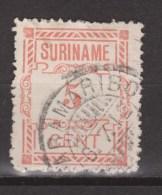 Suriname 67 Used ; Hulpuitgifte CANCEL PARAMARIBO 1912 - Surinam ... - 1975