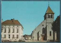 21 - IS-SUR-TILLE  - l'�glise et la Mairie  - non �crite - 2 scans - 10.5 x 15 - LA CIGOGNE
