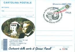 CASTELVECCHIO PASCOLI - 100^ MORTE GIOVANNI PASCOLI . - INTERO POSTALE CON SOPRASTAMPA PRIVATA - Scrittori