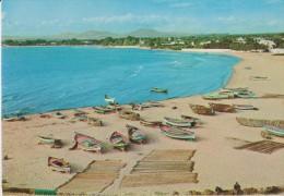 AFRIQUE,AFRICA,TUNISIE,HA MMAMET,CAP BON,prés TUNIS,NABEUL,PORT,BATEAU DE PECHE,BARQUE,sable ,mer Propre - Tunisia