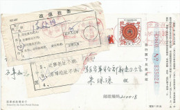 China 2001 Greeting Snake Postcard Meter Franking With Notice Address Insufficient Return To Sender - Postkaarten