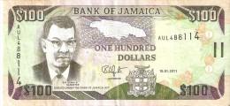BILLETE DE JAMAICA DE 100 DOLLARS DEL AÑO 2011    (BANKNOTE) - Jamaique