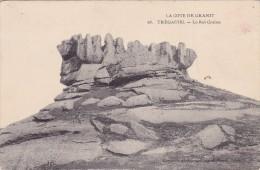 CPA 22 @ TREGASTEL @ Le Roi Gralon @ Rocher Granit - Caillou - Trégastel