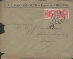 Netherlands 1910 Postal Cover Bussum - Gent (Belgium) - 1891-1948 (Wilhelmine)