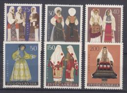 Yugoslavia Republic 1964 Costumes Mi#1085-1090 Mint Never Hinged - 1945-1992 Socialist Federal Republic Of Yugoslavia