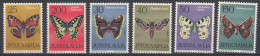 Yugoslavia Republic 1964 Butterflies Mi#1069-1074 Mint Never Hinged - 1945-1992 Socialist Federal Republic Of Yugoslavia