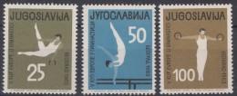 Yugoslavia Republic 1963 Sport Mi#1049-1051 Mint Never Hinged - 1945-1992 Socialist Federal Republic Of Yugoslavia