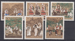 Yugoslavia Republic 1957 Costumes Mi#827-832 Mint Never Hinged - Nuevos