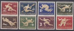 Yugoslavia Republic 1956 Sport Olympic Games Melbourn Mi#804-811 Mint Never Hinged - 1945-1992 Socialistische Federale Republiek Joegoslavië