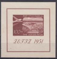 Yugoslavia Republic 1951 Airmail ZEFIZ Mi#Block 5 Mint Never Hinged - 1945-1992 Socialistische Federale Republiek Joegoslavië
