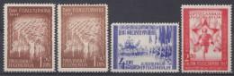 Yugoslavia Republic 1947 Mi#521-523 (521 In Two Colours) Mint Never Hinged - 1945-1992 Socialistische Federale Republiek Joegoslavië