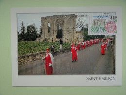 CARTE MAXIMUM MAXIMUM CARD SAINT EMILION AVEC FLAMME FRANCE - Architettura