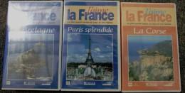 La Corse - La Bretagne - Paris  - Editions Atlas - Cassettes Vidéo VHS