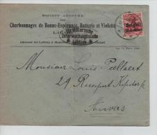 TP Oc 3 s/L.commerciale S.A. Charbonnages de Bonne-Esp�rance Li�ge en 1916 censure militaire PR993