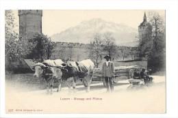 L1645 -  Luzern Musegg Und Pilatus  Attelage De Boeufs - LU Lucerne