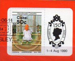 Teppiche Südafrika Ciskei Block 5 O 4€ Teppich-Weberei Bloque Hoja Philatelic M/s Works Women Sheets Bf South Africa RSA - Ciskei