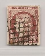 FRANCE N� 6 OBLITERATION GRILLE - NI CLAIR NI AMINCI