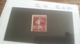 LOT 218560 TIMBRE DE FRANCE NEUF** N�54 VALEUR 160 EUROS
