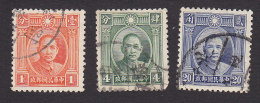 China, Scott #290, 292-293, Used, Dr. Sun Yat-sen, Issued 1931 - China