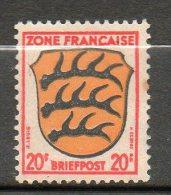 OCCUPATION FRANCAISE  Armoiries 1945 N°8 - Zone Française