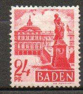 BADE  24p Rouge Carmin 1947-48  N°8 - Zone Française