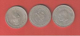 TUNISIE  //  Lot De 3 Monnaies - Tunisie