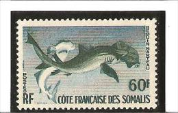 POISSONS  N° 302 ** Gomme Irrégulière - Unused Stamps