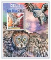 gb13607b Guinea Bissau 2013 Birds Owls s/s
