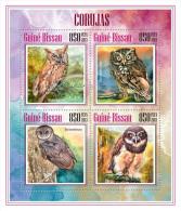 gb13607a Guinea Bissau 2013 Birds Owls s/s