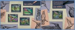 ca14225ab Central African 2014 Birds Hummingbirds 2 s/s